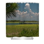 Intracoastal Water In Sullivan's Island South Carolina Shower Curtain