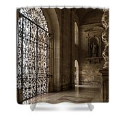 Intricate Ironwork - Lacy Wrought Iron Gates Shower Curtain
