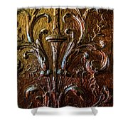Intricate Wood Carving On Wall Panel At Swannonoa 4407vt Shower Curtain