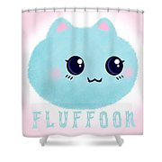 Introducing Fluffoon The Cutest Fluff In The World Shower Curtain