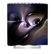 Introspective Perspective Shower Curtain