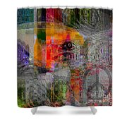 Intuitional Abstract Shower Curtain