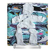 Inukshuk Strata 4 Shower Curtain