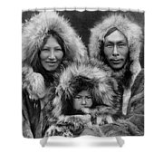Inupiat Family Portrait - Alaska 1929 Shower Curtain