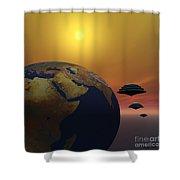 Invasion Shower Curtain