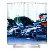 Invasion Of The Import Cars Shower Curtain