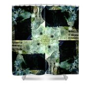 Invented Places, Mandala Series, Path With Flowers Shower Curtain