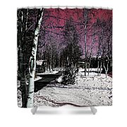 Invernal Landscape Shower Curtain