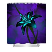 Inverse Lily Shower Curtain
