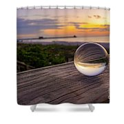Inverse Sunset  Shower Curtain