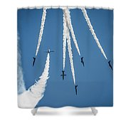 Inverted Bomb Burst  Shower Curtain