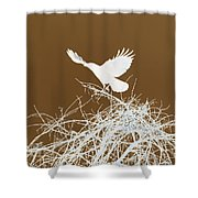 Inverted Crow Shower Curtain