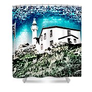 Inverted Lighthouse  Shower Curtain
