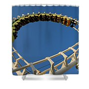 Inverted Roller Coaster Shower Curtain