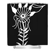 Inverted Small Flower Shower Curtain