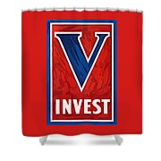Invest In Victory - World War 2 Shower Curtain