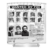 Investigator's Copy - Ted Bundy Wanted Document  1978 Shower Curtain