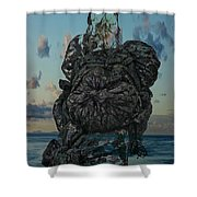 Invisable Lady Shower Curtain