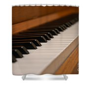 Invisible Pianist Shower Curtain