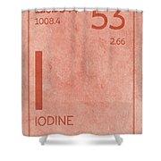 Iodine Element Symbol Periodic Table Series 053 Shower Curtain