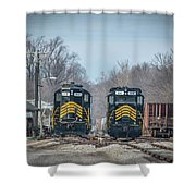 ioneer Lines PREX 912 and 806 at Evansville Indiana Shower Curtain