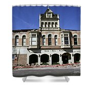 Watsonville I. O. O. F. Building Built In 1893  Damaged By The Loma Prieta Earthquake 1989 Shower Curtain