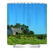 Iowa Barn Shower Curtain