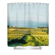Iowa Cornfield Panorama Shower Curtain