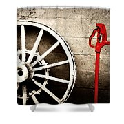 Iowa Hydrant Shower Curtain