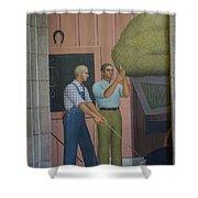 Iowa State Mural - 2 Shower Curtain