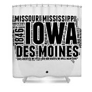 Iowa Word Cloud 2 Shower Curtain