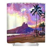 Ipanema Sunset Shower Curtain