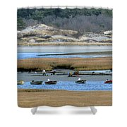 Ipswich River Clammers Shower Curtain
