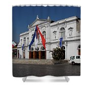 Iquique Chile Courtyard Shower Curtain