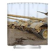 Iraqi T-72 Tanks From Iraqi Army Shower Curtain