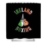 Ireland Boxing Color Light Boxers Irish Cool Gift Funny Flag Shower Curtain