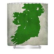 Ireland Grunge Map Shower Curtain