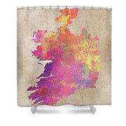 Ireland Map  Shower Curtain