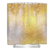Iridescent Abstract Non Objective Golden Painting Shower Curtain