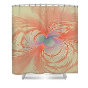 Iridescent Pink Shower Curtain