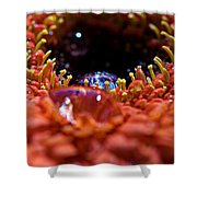 Iridescent Water Drops Shower Curtain
