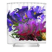 Iris And Tulip Shower Curtain