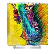 Iris Apfel Shower Curtain