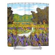 Iris By Creek Shower Curtain