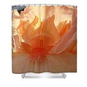 Iris Flower Art Prints Sunlit Orange Irises Baslee Troutman Shower Curtain