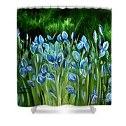 Iris Galore Shower Curtain