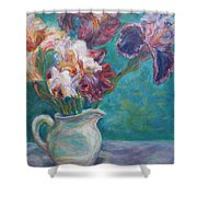 Iris Medley - Original Impressionist Painting Shower Curtain