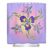 Iris Pinwheel Shower Curtain