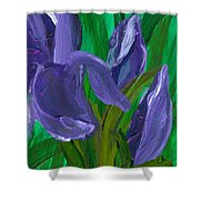 Iris Up Close And Personal Shower Curtain