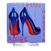 Irish Burlesque Shoes Shower Curtain